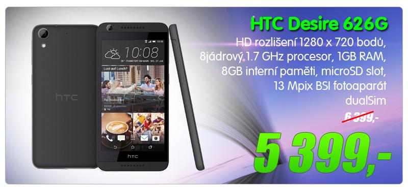 HTC Desire 626G Dual tmave seda
