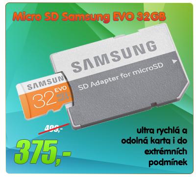 Samsung microSDHC Class 10 32GB EVO s adapterem